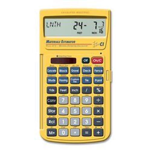 4019 MATERIAL ESTIM CALCULATOR