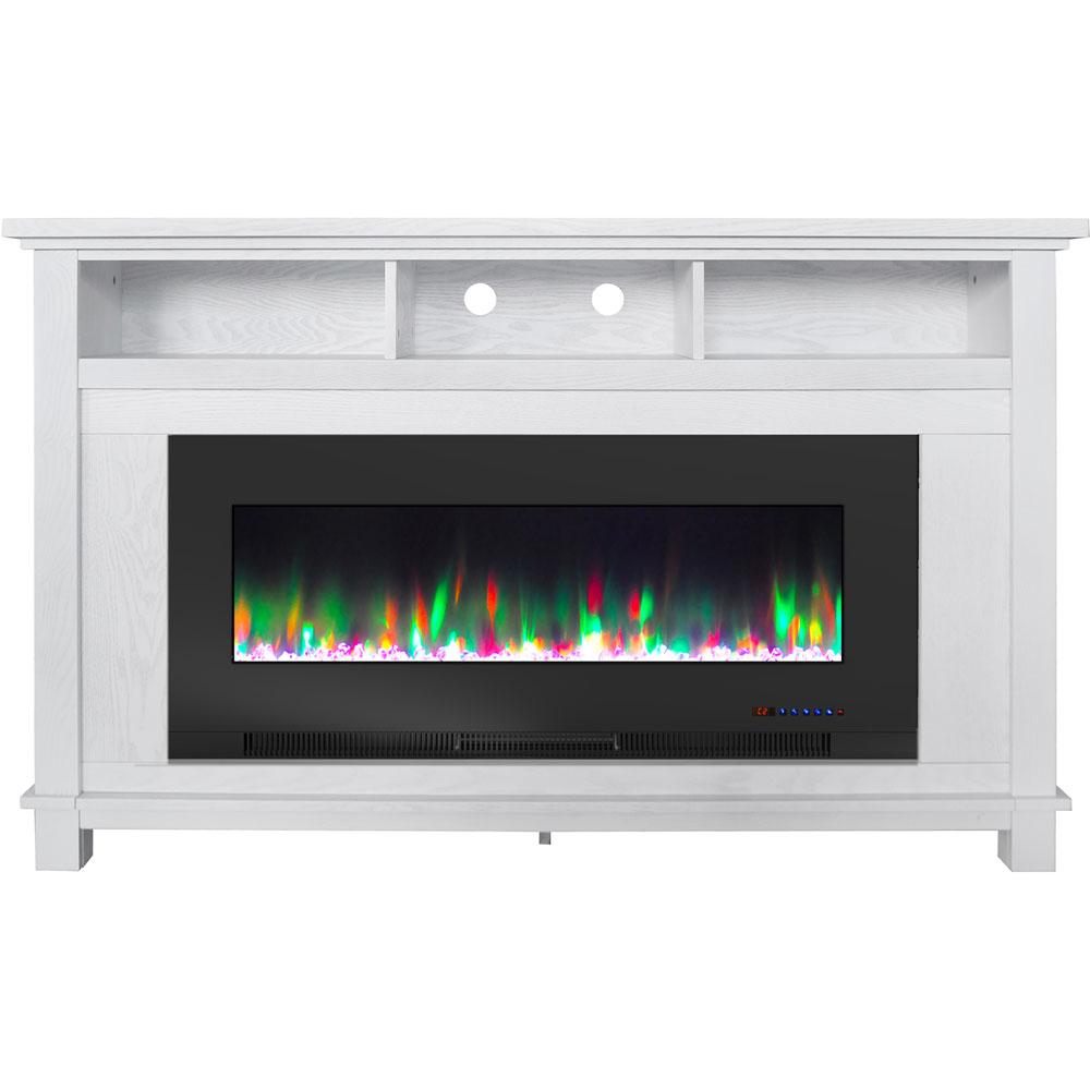 "57.8"" x 14.4"" x 35"" San Jose Fireplace Mantel w/ 50in crystal insert"