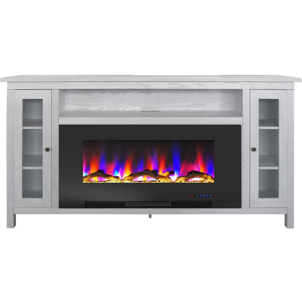 "69.7""x13.4""x38.6"" Somerset Fireplace Mantel with 42"" Log Insert"