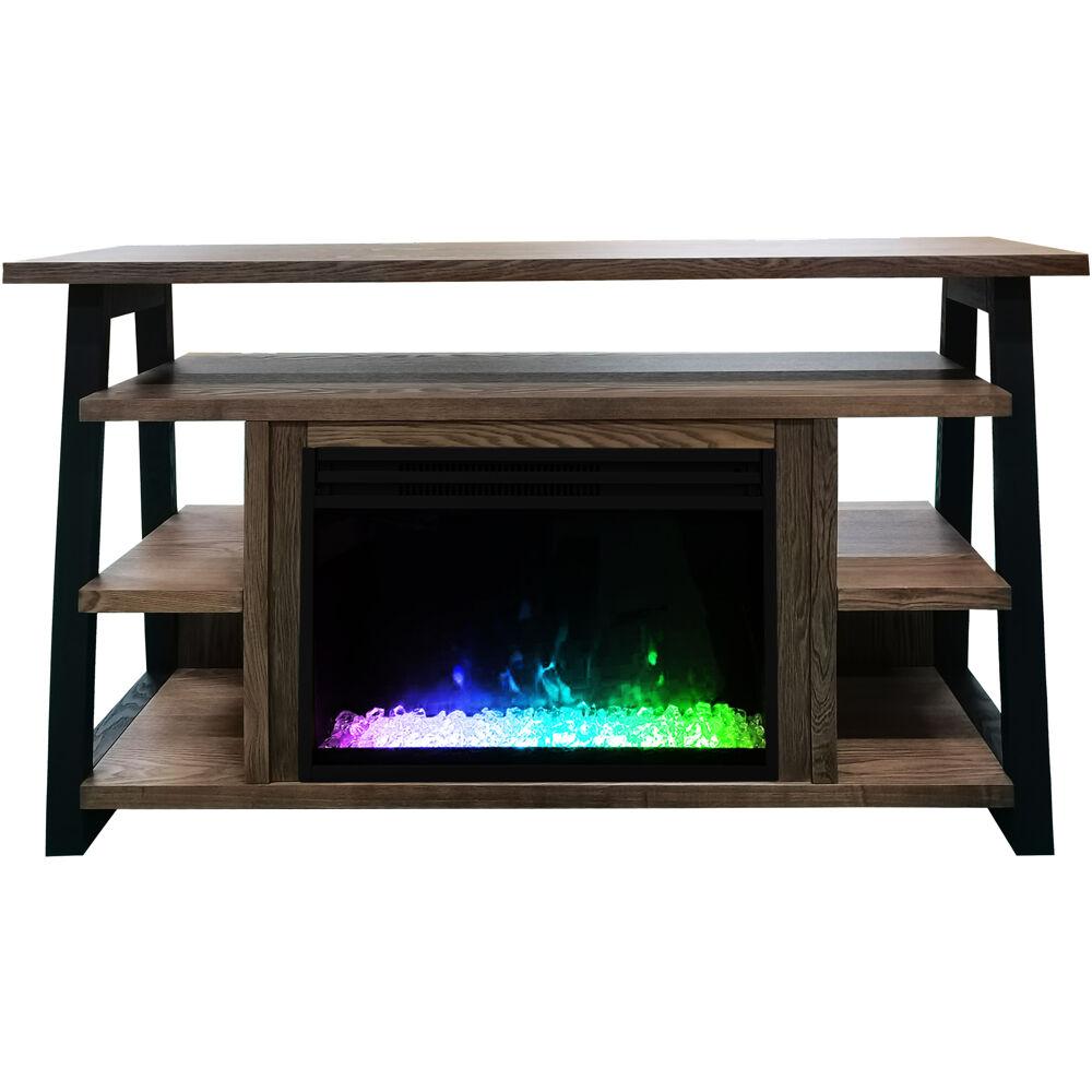 """53.1""""x15.6""""x31.7"""" Sawyer Fireplace Mantel with Crystal Insert"""