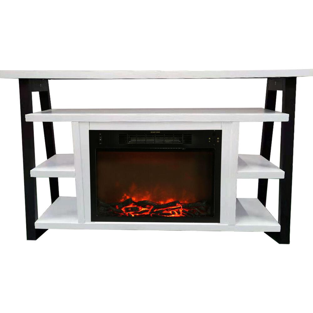 """53.1""""x15.6""""x31.7"""" Sawyer Fireplace Mantel with Log Insert"""