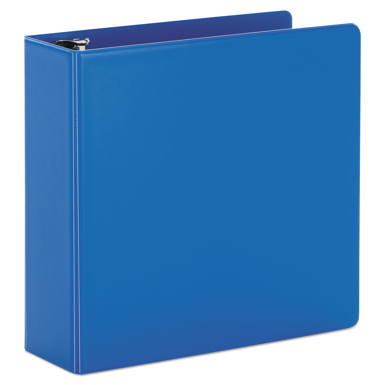 "SuperStrength Locking Slant-D Ring Binder, 4"" Cap, 11 x 8 1/2, Blue"