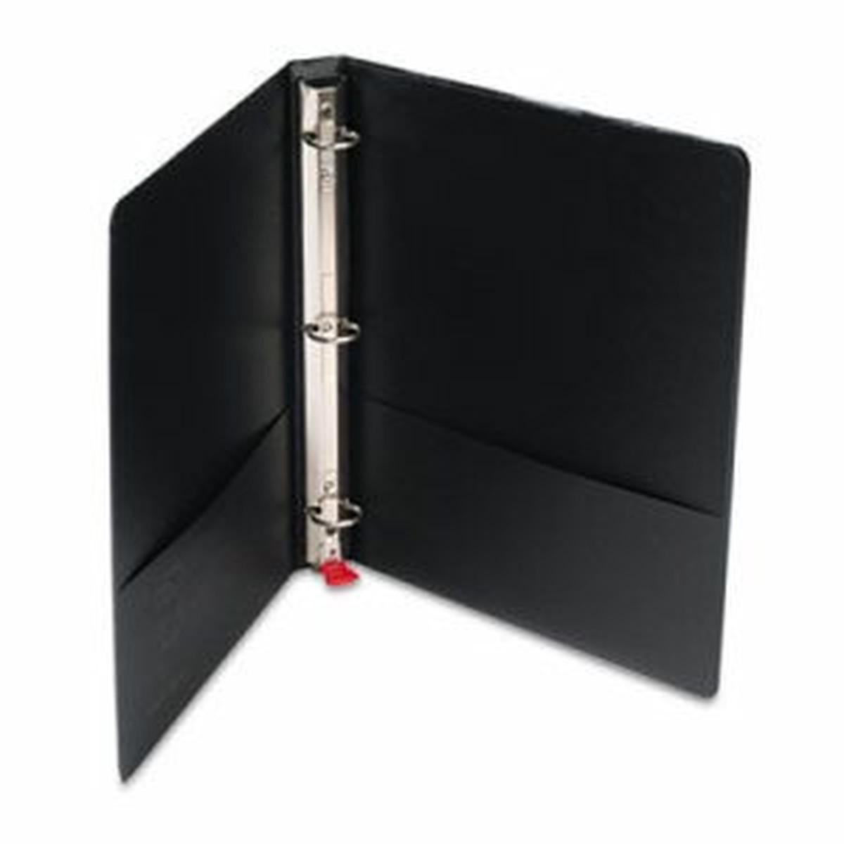 """Premier Easy Open Locking Round Ring Binder, 1"""" Cap, 11 x 8 1/2, Black"""