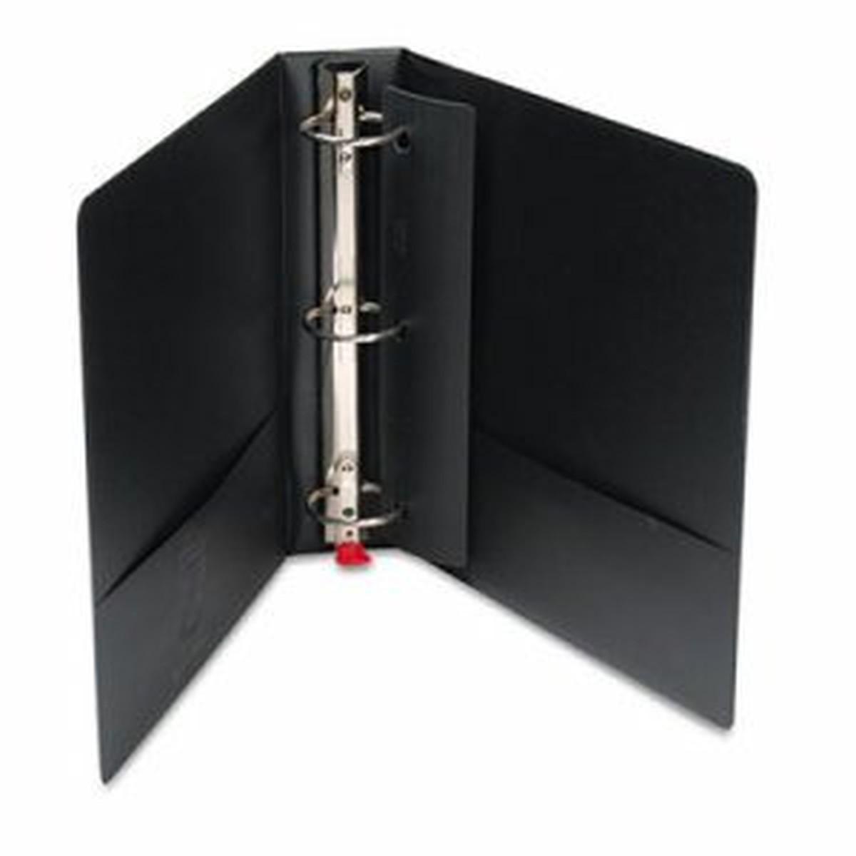 """Premier Easy Open Locking Round Ring Binder, 2"""" Cap, 11 x 8 1/2, Black"""