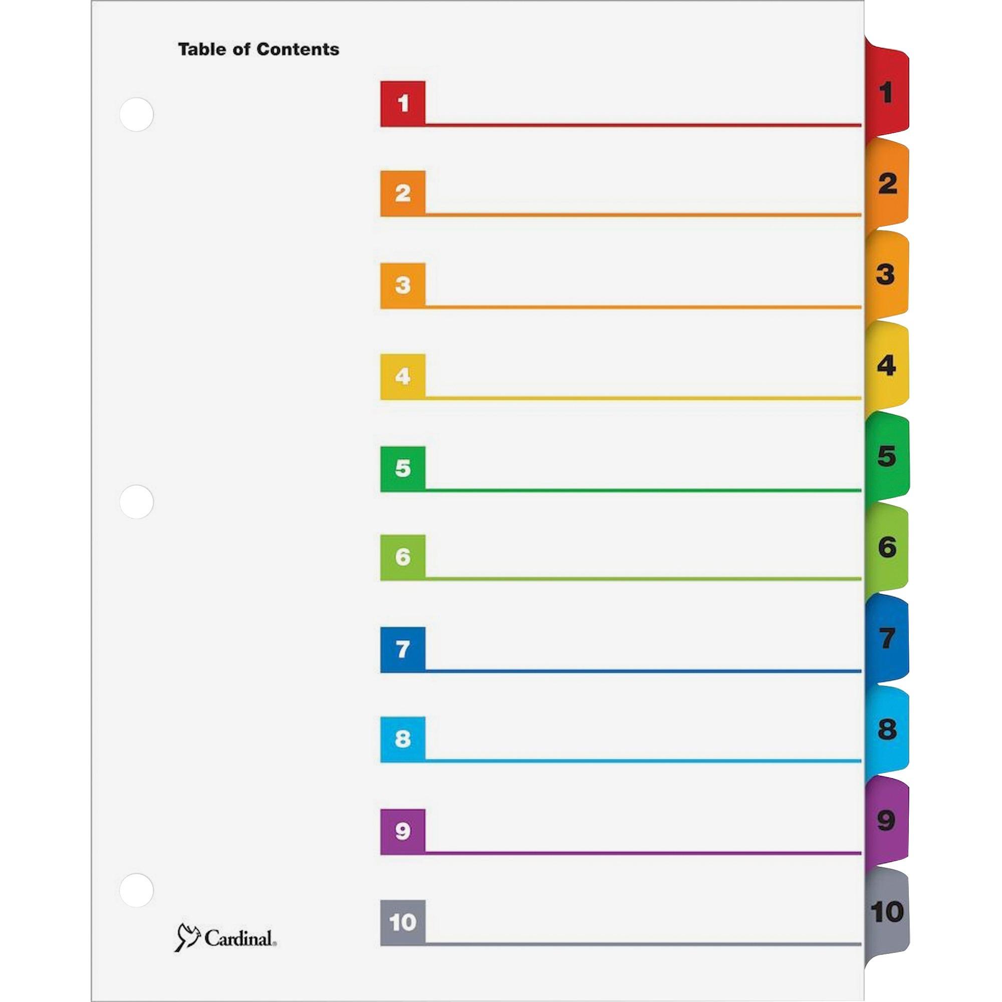 QuickStep OneStep Bulk Index System, Title: 1-10, Letter, Multicolor, 24 Sets/BX