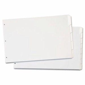Write 'n Erase Tabloid Index Dividers, 8-Tab, White