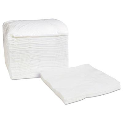 Select Dinner Napkins, 1-Ply, White, 16.75 x 17, 250/Pack, 8/Carton