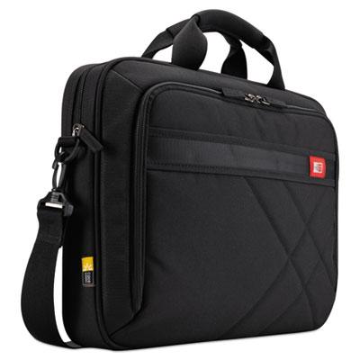 "Diamond 17"" Laptop Briefcase, 17.3"" x 3.2"" x 12.5"", Black"