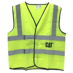 CAT HI VIS SAFETY VEST  GREEN  2XL