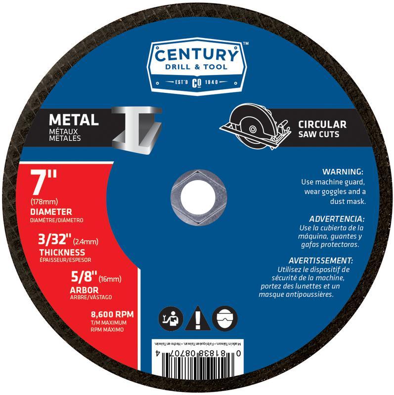 08707 7X3/32 IN. METAL CUTTING BLADE