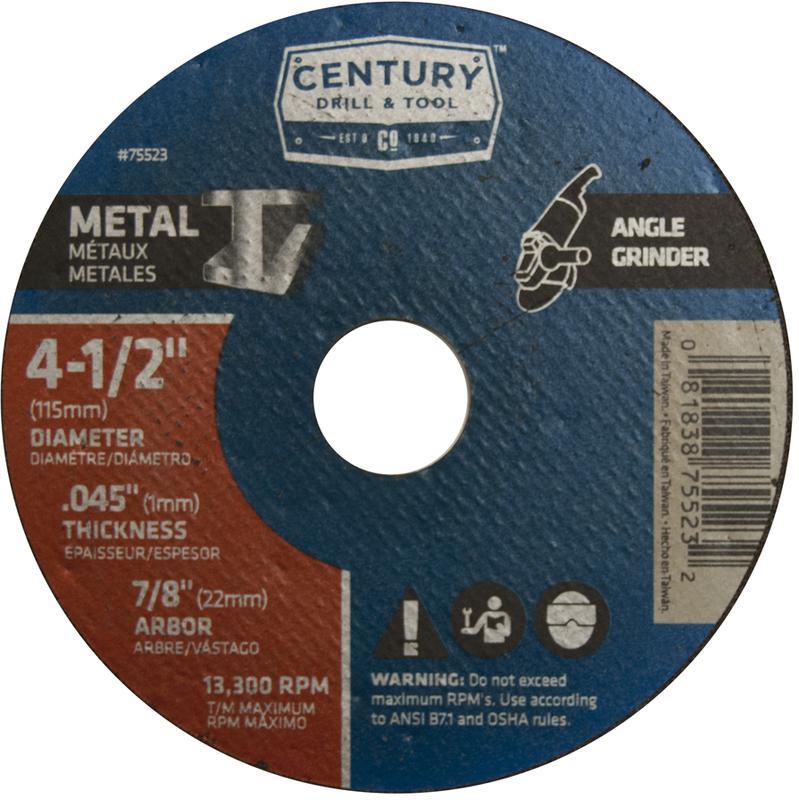 75523 4-1/2X.045 METAL GRINDING WHEEL
