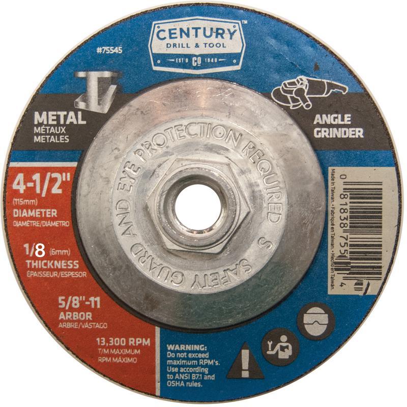 75546 4-1/2X1/8 METAL GRINDING WHEEL
