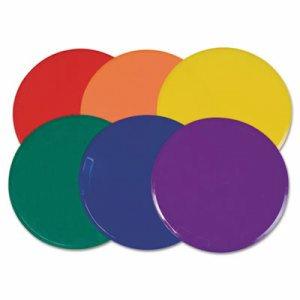 """Poly Spot Marker Set, 9"""" Disks, Assorted Colors, 6/Set"""