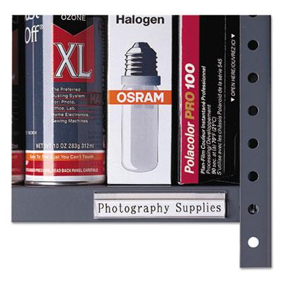 Shelf Labeling Strips, Side Load, 4 x 7/8, Clear, 10/Pack