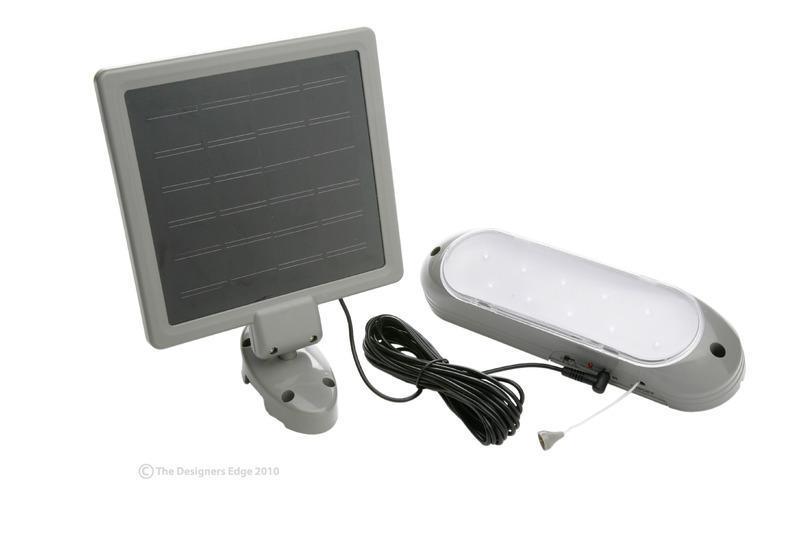 10 LED Solar Panel Shed Lite