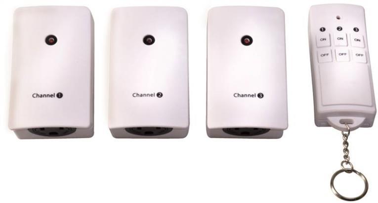 Coleman 13569 Wireless Remote Control, 125 V, 15 A Resistive, 5 A, 40 ft, 12 V Battery