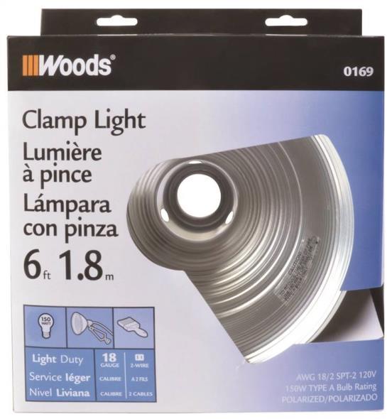 Coleman 169 Clamp Light, 150 W