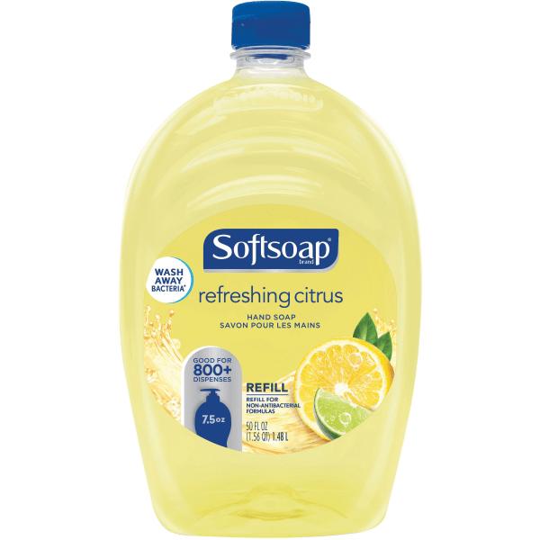 Liquid Hand Soap Refill, Fresh Citrus, 50 oz Bottle, 6/Carton
