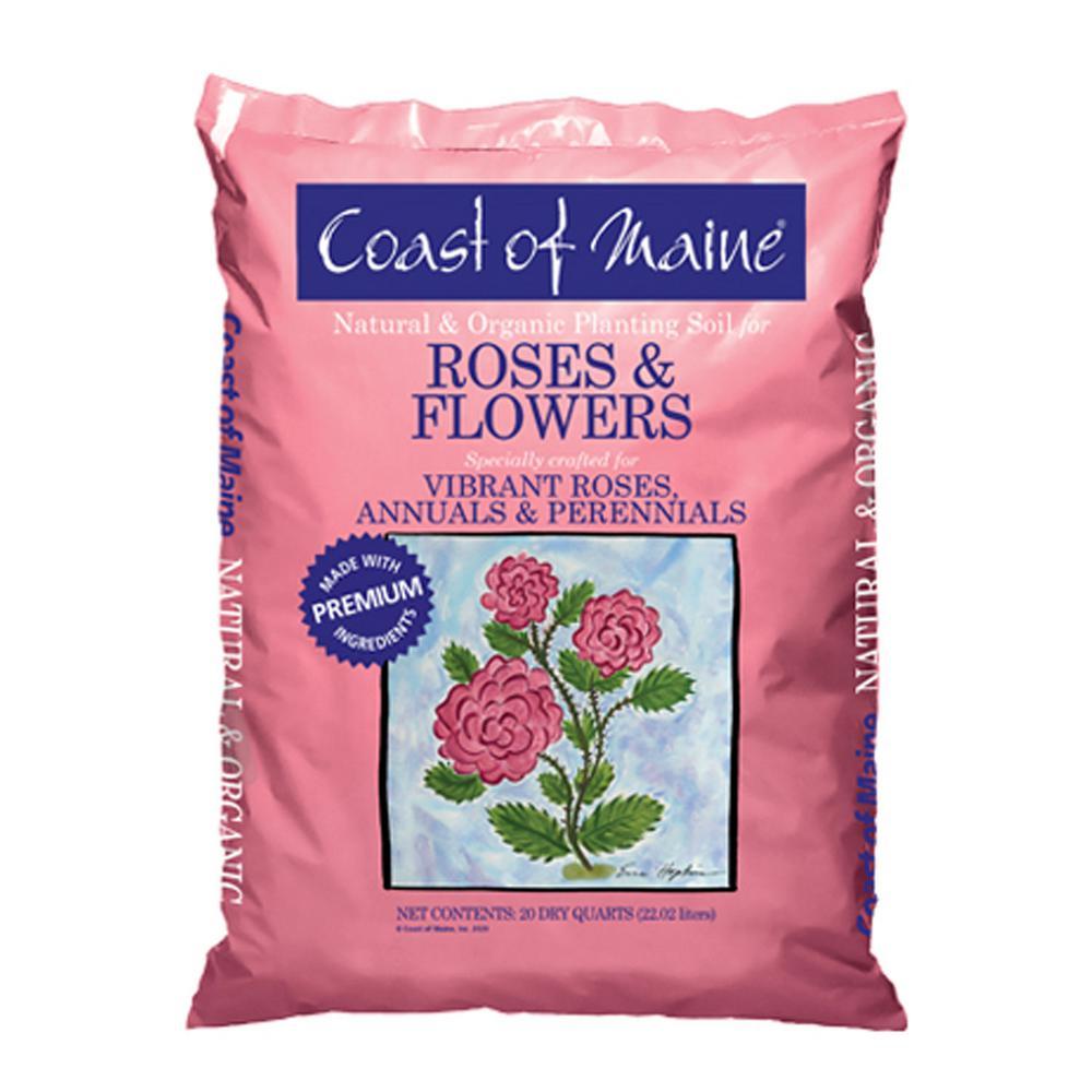 SOIL ROSE & FLOWER ORG 20QT