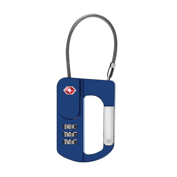 CARABINER LOCK BLUE