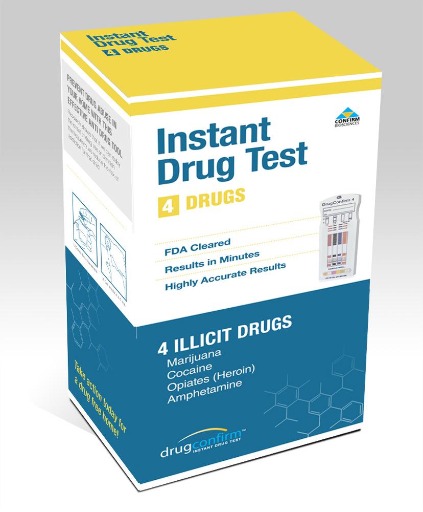 DRUGCONFIRM DRC1004 2318 4PANEL DRUG TEST INSTANT MULTI