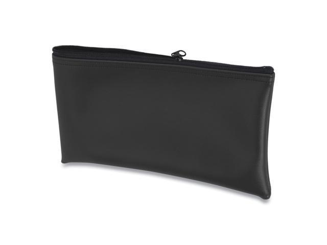 Fabric Deposit Bag, 6 x 11 x 1, Vinyl, Black
