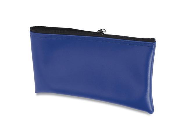 Fabric Deposit Bag, 6 x 11 x 1, Vinyl, Blue