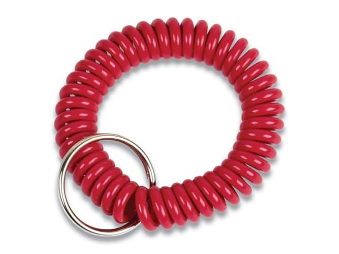 Wrist Key Coil Key Organizers, Red, 12/Pack