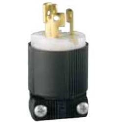 Arrow Hart Hart-Lock CWL515P Grounded Straight Locking Electrical Plug, 125/250 V, 15 A, 2 P