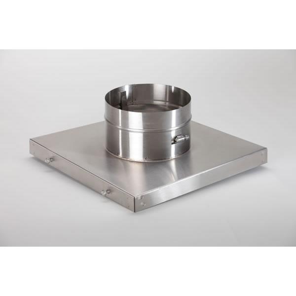 "6"" HomeSaver UltraPro/Pro 304-Alloy Stainless Steel Terra Cotta 13"" X 13"" Collar Plate"