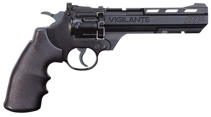 Crosman Vigilante (Black)CO2 Powered Semi-Auto Dual Ammo Air Revolver