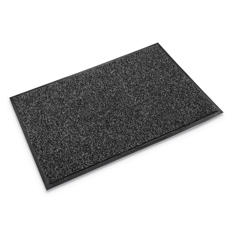 Cross-Over Indoor/Outdoor Wiper/Scraper Mat, Olefin/Poly, 48 x 72, Gray