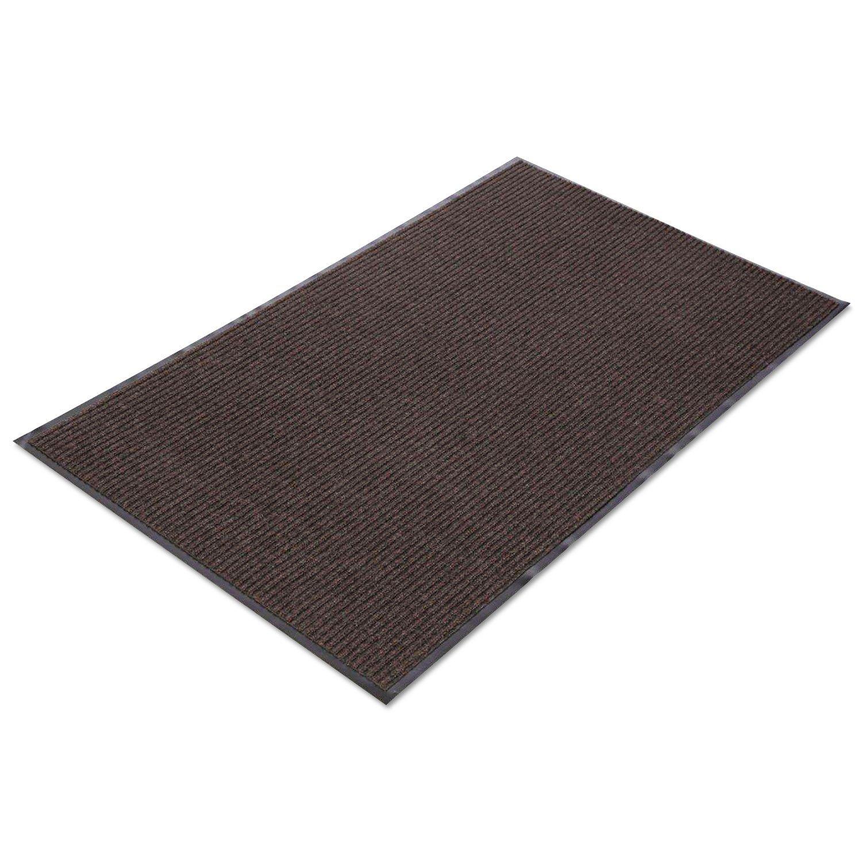 Needle Rib Wipe & Scrape Mat, Polypropylene, 36 x 120, Brown