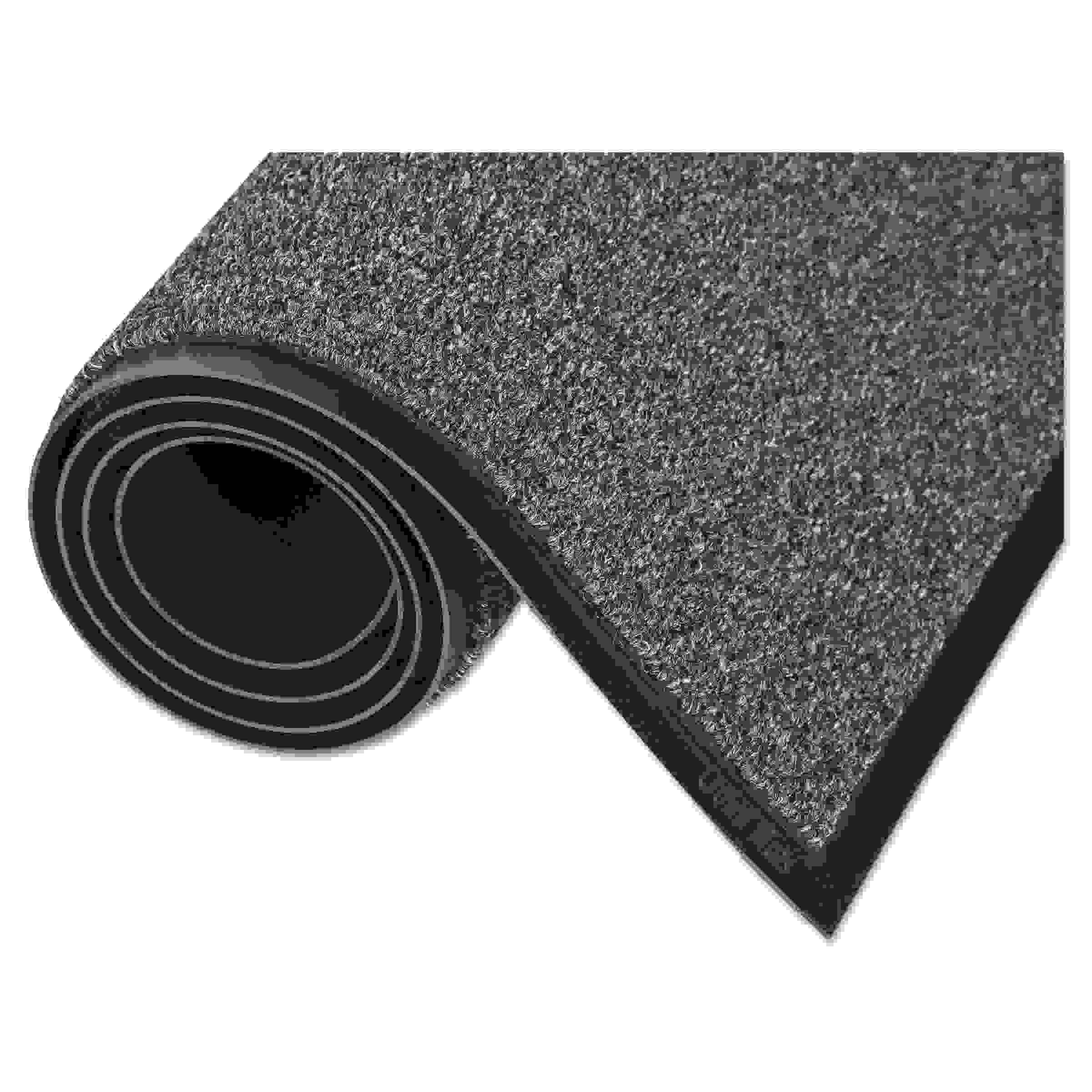 Walk-A-Way Indoor Wiper Mat, Olefin, 36 x 60, Gray