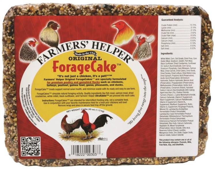 CAKE ORIGNAL FORAGE CHICKEN 2.5LB