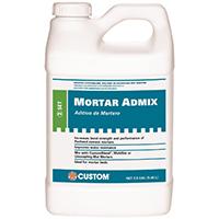 Custom Building AMA2 Thin-Set Mortar Adhesive Mix, 2.5 gal, Bottle, White, Mild, Liquid