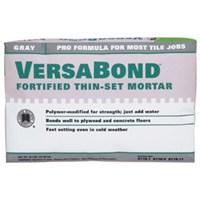Versabond MTSG50 Fortified Thin-Set Mortar, 50 lb, Bag, Gray, Solid Powder