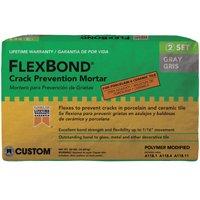 FlexBond FB50 Crack?Prevention?Mortar, 50 lb, Bag, Gray, Characteristic, Solid Powder