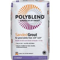 Polyblend PBG2225 Sanded Tile Grout?, 25 lb, Bag, NO 22 Sahara Tan, Solid Powder
