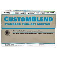 CustomBlend CBTSW50 Standard Thin?Set?Mortar, 50 lb, Bag, White, Powder