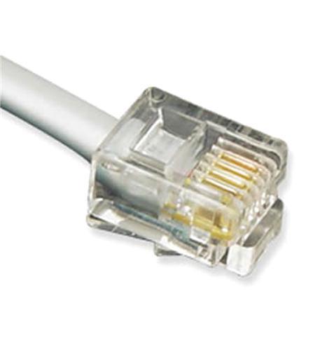 GCLB466025  25' Flat Line Cord 6P4C SV