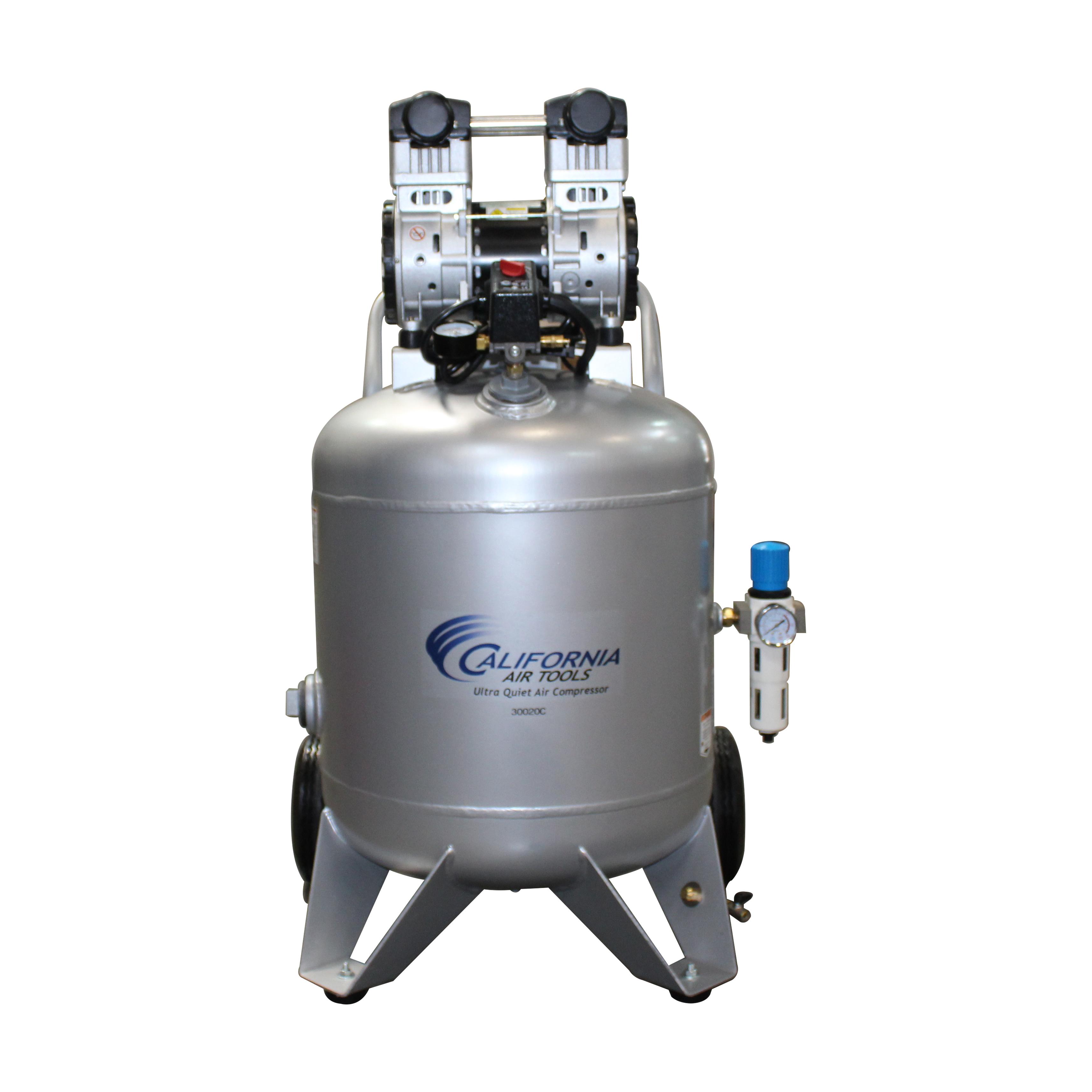 California Air Tools 30020C Ultra Quiet  & Oil-Free  2.0 Hp, 30.0 Gal. Steel Tank Air Compressor