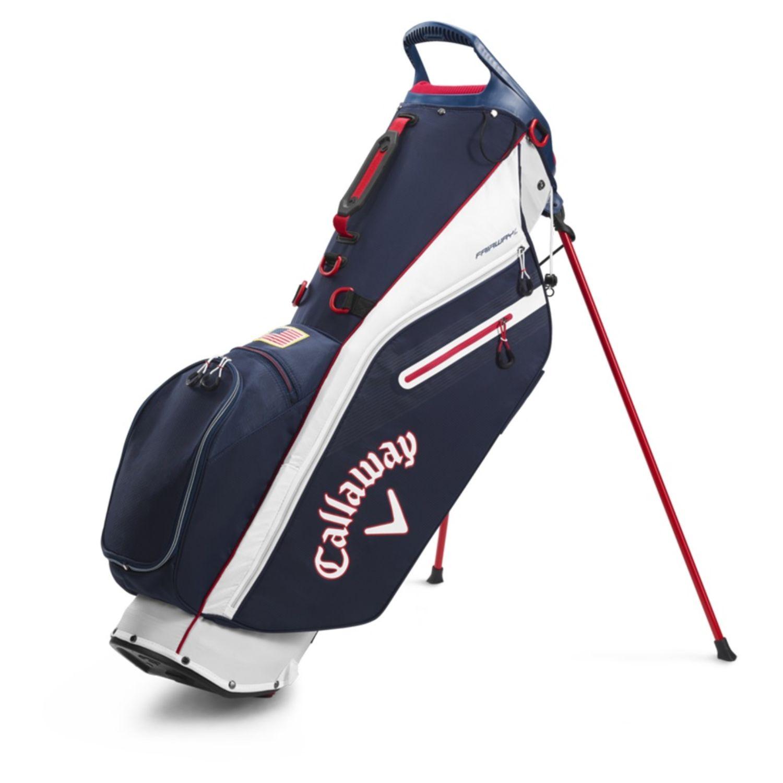Callaway Golf 2020 Fairway C Slim Stand Bag-Navy-Red-Flag