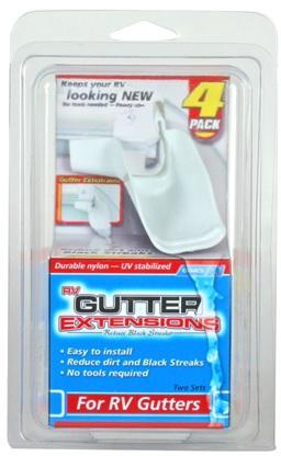 GUTTER EXTENSIONS, WHITE, SET OF 4 (2 LEFT/2 RIGHT)