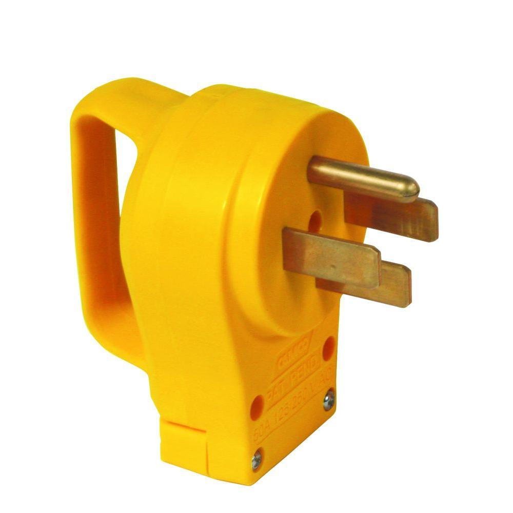 50AMP POWERGRIP REPL MALE PLUG 125-250V/12500W,CLAM,CCSAUS