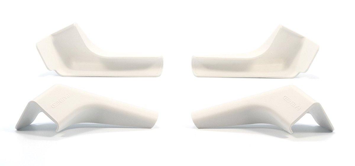 GUTTER SPOUT, WIDE/LONG, WHITE, 4PK(2 LEFT/2 RIGHT)BILINGUAL