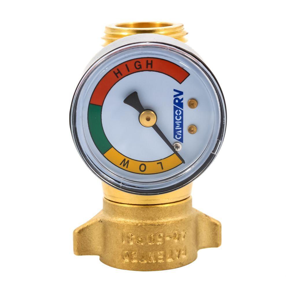 BRASS WATER PRESSURE REGULATOR WITH GAUGE, LLC