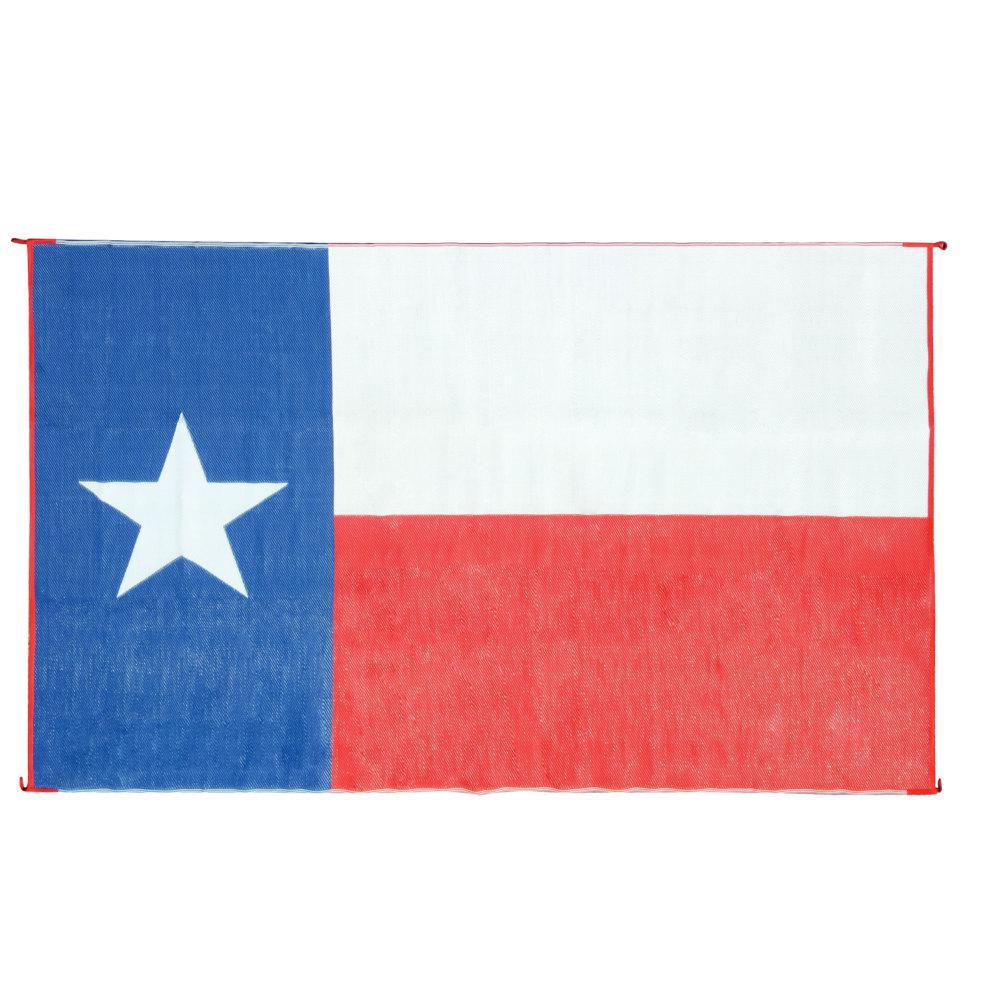 OUTDOOR MAT, 9FT X 12FT, TEXAS FLAG, W/UV (ENG/FR)