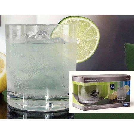 TUMBLER GLASS 7OZ, 2 PK, ACRYLIC, BPA FREE