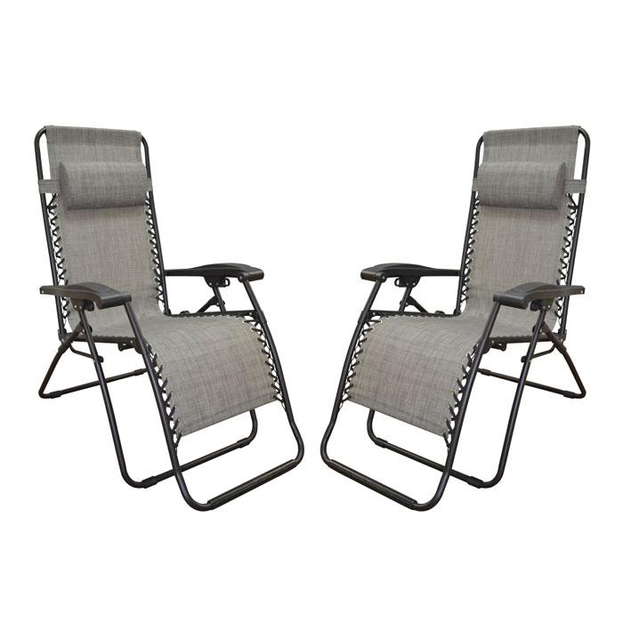Infinity Zero Gravity Chair Grey (2pk)